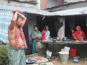 Three different families who lost their four earning members from Rana Plaza collapse last year