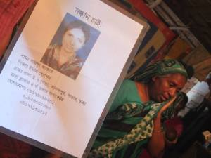Mother of Shyla Akter who was still missing from Rana Plaza collapse last year.